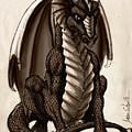 Sepia Dragon by Jason Wojcik
