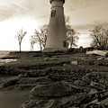 Sepia Marblehead Lighthouse by Dan Sproul