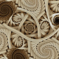 Sepia Swirls Fractal Art by Jennifer Stackpole