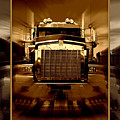 Sepia Toned Kenworth Abstract by Randy Harris