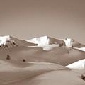 Sepia Toned Snowy Mountain by Stefania Levi