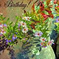 September Birthday Aster by Kristin Elmquist