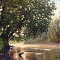 September Dawn Little Sioux River - Plein Air by Bruce Morrison