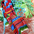 Serape On Wrought Iron Chair I by Kandyce Waltensperger