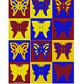 Serendipity Butterflies Brickgoldblue 1 by Christine McCole