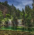 Serene Hanging Lake Waterfalls by Focqus
