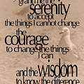 Serenity Prayer 04 by Vicki Ferrari