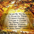 Serenity Prayer by Lori Vee Eastwood Designs for Hope