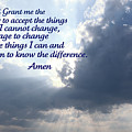 Serenity Prayer by Tina Meador