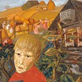 Sergei Esenin 1895-1925 As A Youth, Boris Grigoriev by Artistic Panda