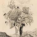 Sergey Vasilievich Chekhonin Russian 1878-1936 Flower Bouquet, 1935 by Artistic Panda