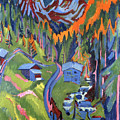 Sertig Path In Summer by Ernst Ludwig Kirchner