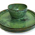 Serving Dish Or Chip And Dip Server by Vernon Nix