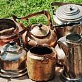 Set Of Ancient Teapots  by Vadzim Kandratsenkau