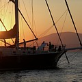 Set Sail On The Aegean At Sunset by Clay Cofer