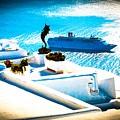 Set Sail Santorini by K P  Larrabee
