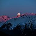 Setting Moon Over Alaskan Peaks IIi by Matt Swinden