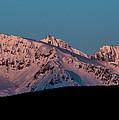 Setting Moon Over Alaskan Peaks Vi by Matt Swinden
