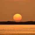 Setting Sun On Coastal Florida by David Lee Thompson
