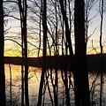 Setting Sun On Monroe Lake Bloomington Indiana by Scott D Van Osdol