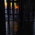 Setting Sun Pismo Beach by Garry Gay