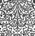 Seventeenth Century Parterre Pattern Design by Jacques Mollet
