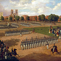 Seventh Regiment On Review. Washington Square. New York by Otto Boetticher