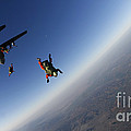 Several Military Freefall Parachutist by Stocktrek Images