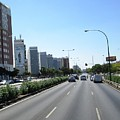 Seville High Rise Buildings Along The Highway Spain by John Shiron