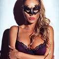 Sexy Glamorous Woman Wearing A Mask by Oleksiy Maksymenko