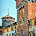 Sforza Castle Milan Italy by Joan Carroll