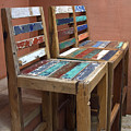 Shabby Chic Chairs by Sally Weigand