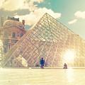 Shabby Chic Louvre Museum Paris by Sandra Rugina