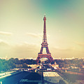 Shabby Chic Vintage Style Eiffel Tower Paris by Sandra Rugina