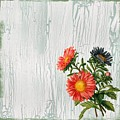 Shabby Chic Wildflowers On Wood by Joy of Life Art Gallery