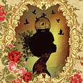 Shabby Fae Silhouette  Golden by Alysa Graphique