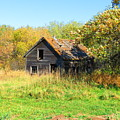 Shack In Fall Colours by Creations by Shaunna Lynn