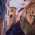 Shaded Street by Michel Angelo Rossi