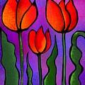 Shades Of Tulips by Kathleen Hromada