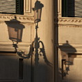 Shadow Of A Lamp Post In Venice by Michael Henderson