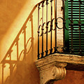 Shadows And Green Shutter by Vicki Hone Smith