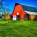 Shadows On The Barn Tennessee Farm Art by Reid Callaway