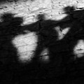 Shadows On The Wall Of Edinburgh Castle  by Christine Till