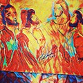 Shadrach, Meshach And Abednego In The Fire With Jesus by Love Art Wonders By God