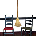 Shaker Chairs And Broom by Sally Weigand