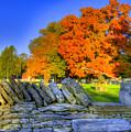 Shaker Stone Fence 7 by Sam Davis Johnson