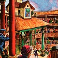 Shakespeare Performing At The Globe Theater by Peter Jackson