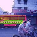 Shanghai Pink Bus by Steven Hlavac