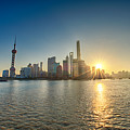 Shanghai Pudong In The Morning Sun by U Schade