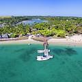 Shangrila Fiji Aerial Panorama by Brad Scott